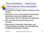 documentation improving international documentation