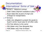 documentation international terms of sale1