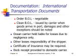 documentation international transportation documents2