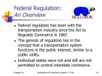 federal regulation an overview