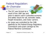 federal regulation an overview2