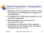federal regulation deregulation