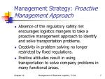 management strategy proactive management approach