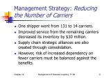 management strategy reducing the number of carriers1