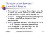 transportation services line haul services