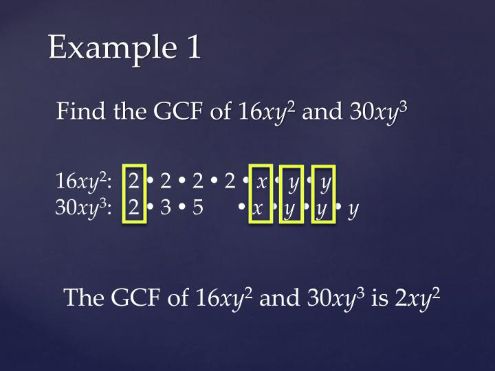 Find the GCF of 16