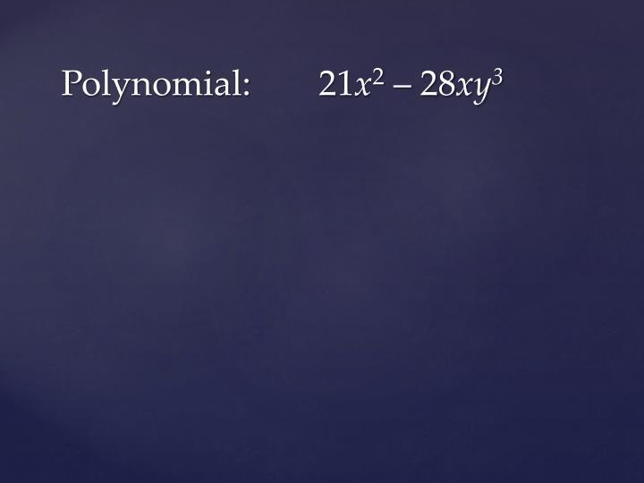 Polynomial:21