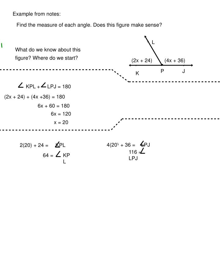 Example from notes: