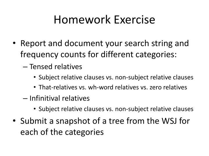Homework Exercise