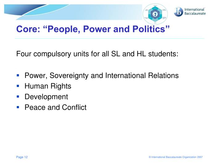 "Core: ""People, Power and Politics"""