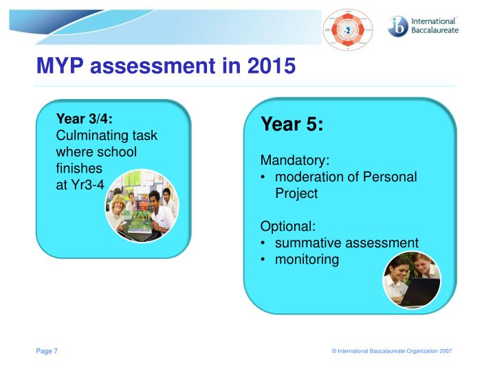 MYP assessment in 2015