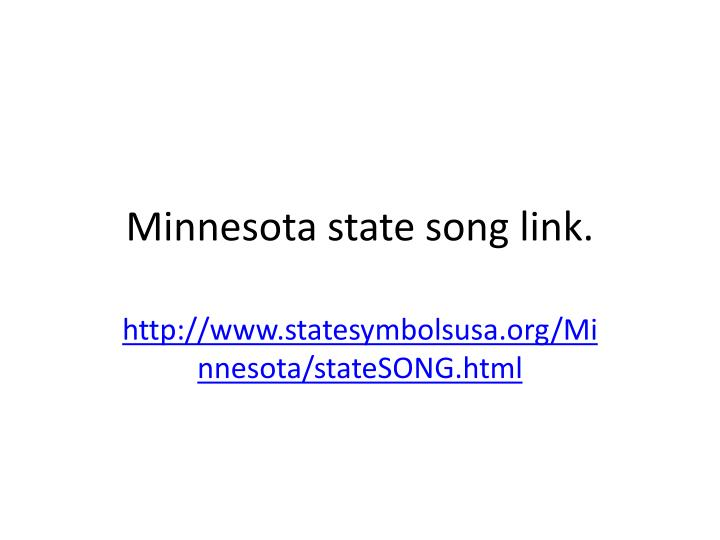Minnesota state song link
