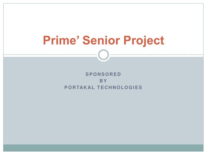prime senior project n.