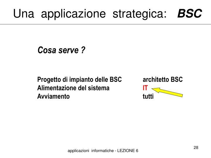 Una  applicazione  strategica: