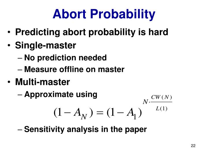 Abort Probability