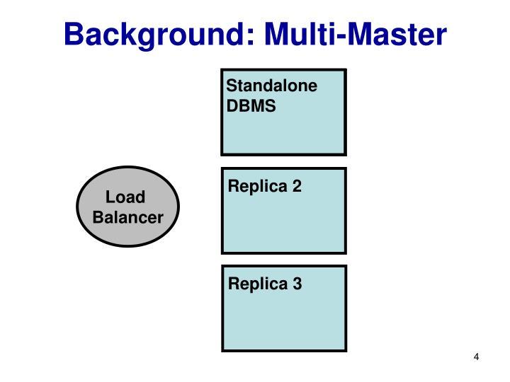 Background: Multi-Master