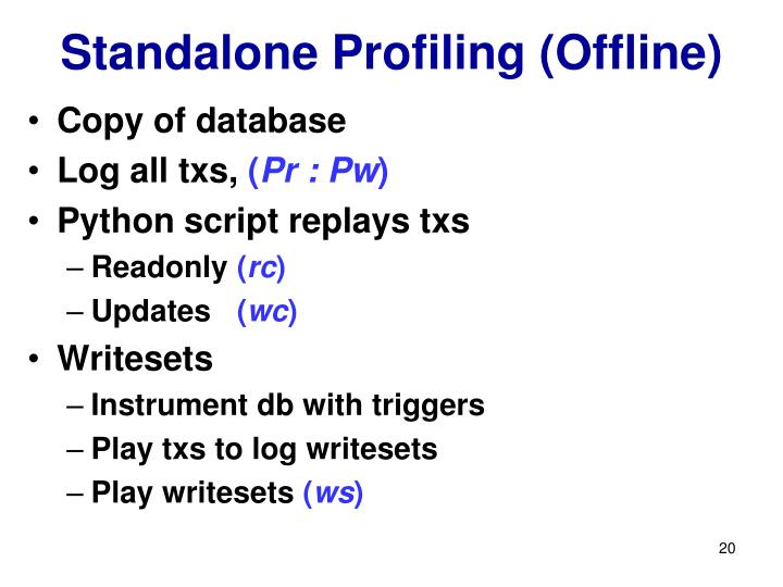 Standalone Profiling (Offline)