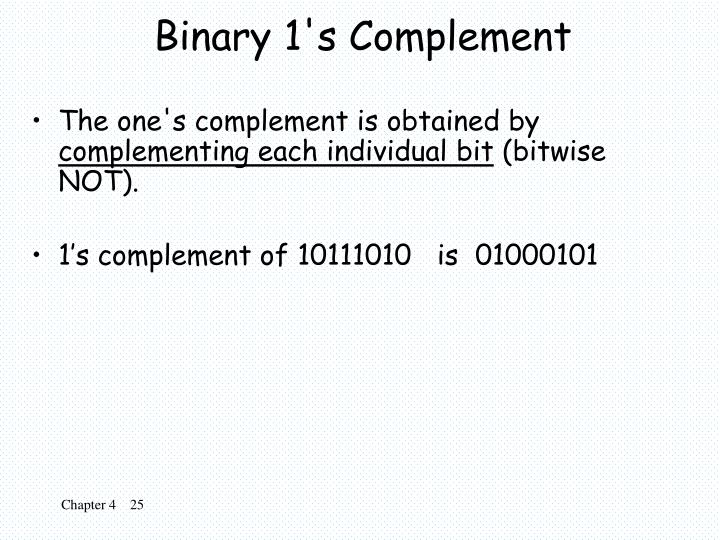 Binary 1's Complement
