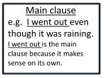 main clause1