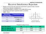 receiver interference rejection