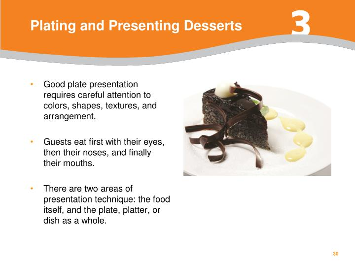Plating and Presenting Desserts