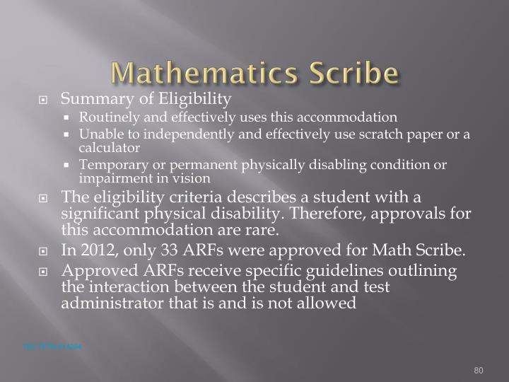 Mathematics Scribe