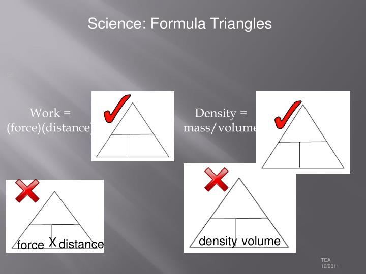 Science: Formula Triangles