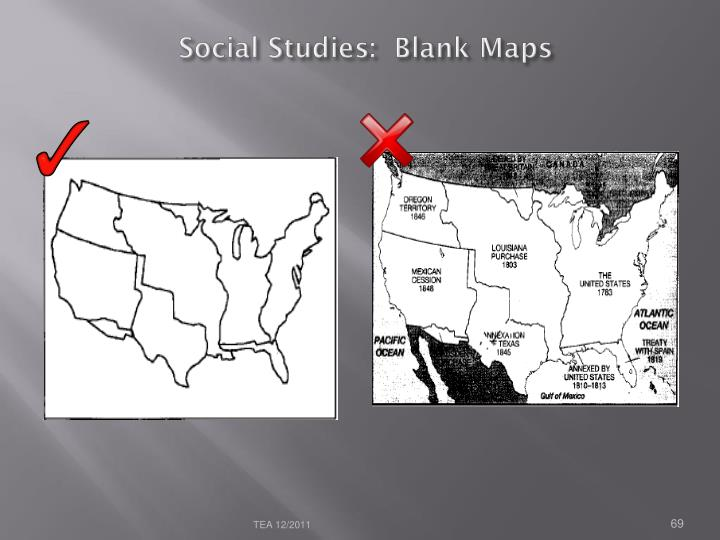 Social Studies:  Blank Maps