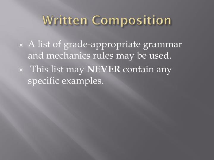 Written Composition