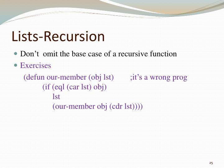 Lists-Recursion