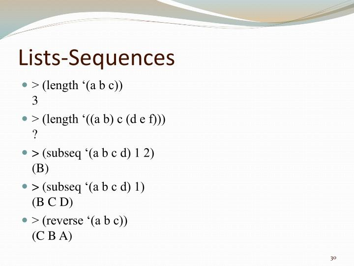 Lists-Sequences