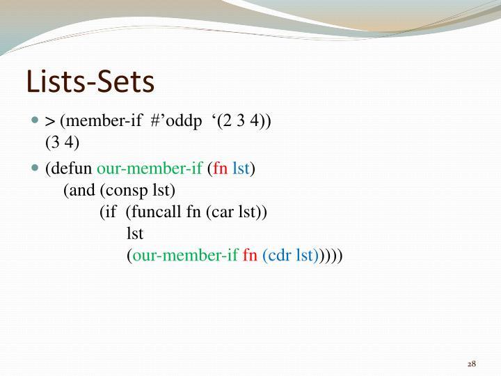 Lists-Sets