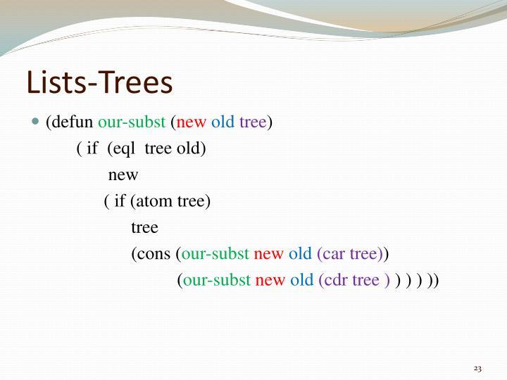 Lists-Trees