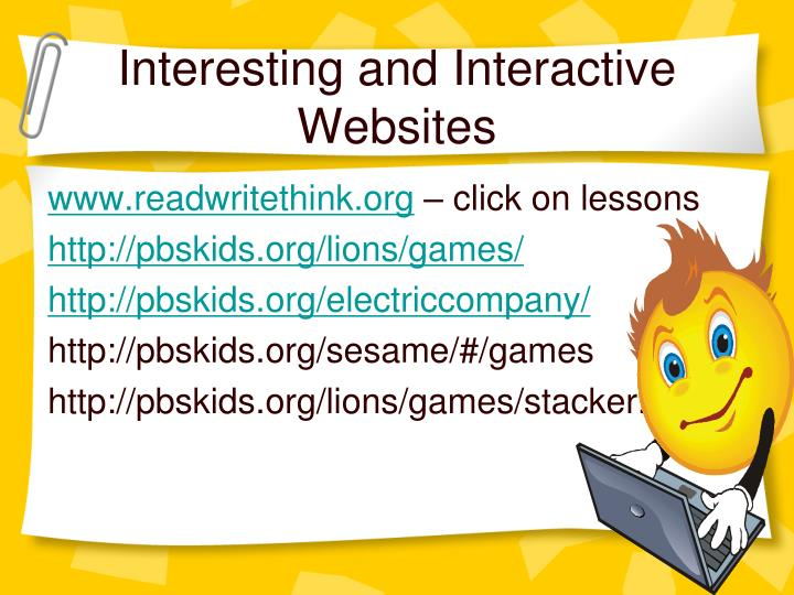 Interesting and Interactive Websites