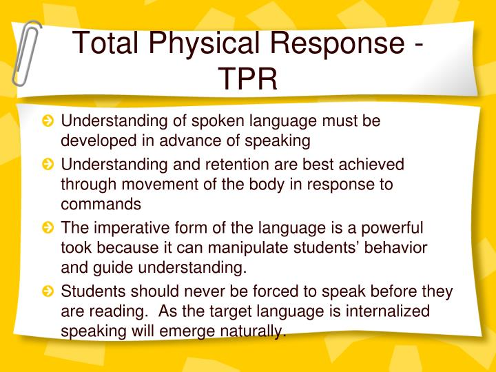 Total Physical Response - TPR