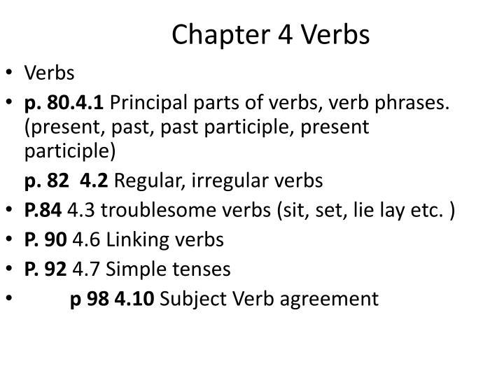 Chapter 4 verbs