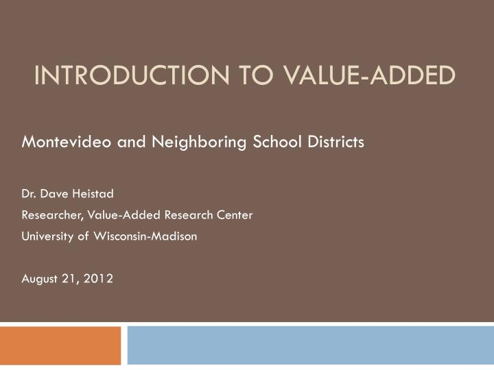 introduction to value added n.