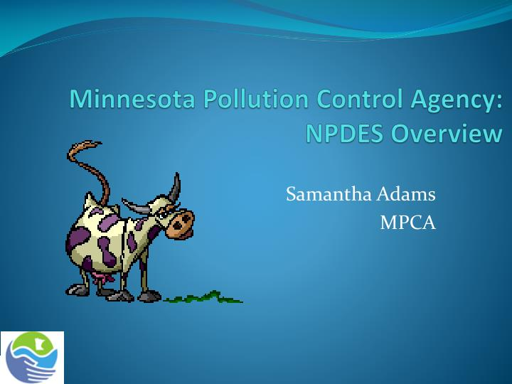 Minnesota pollution control agency npdes overview