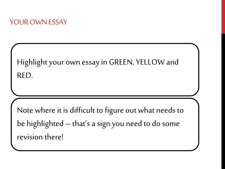 Your Own Essay