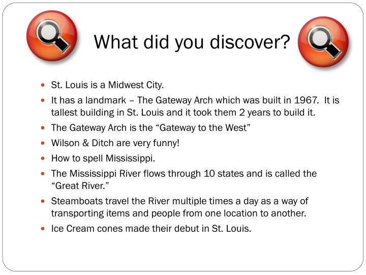 What did you discover?