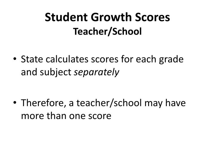 Student Growth Scores
