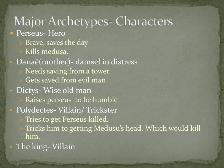 Major Archetypes- Characters
