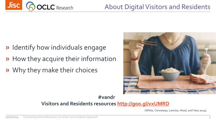 About digital visitors and residents