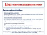 liver nutrient d istribution c enter1