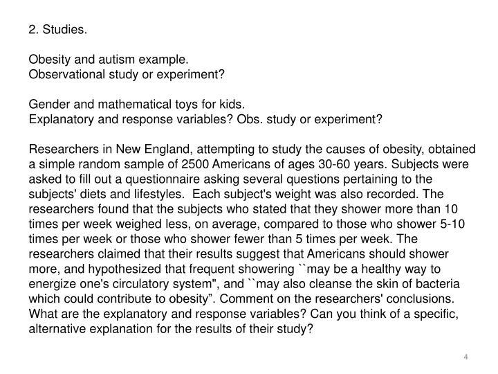 2. Studies.
