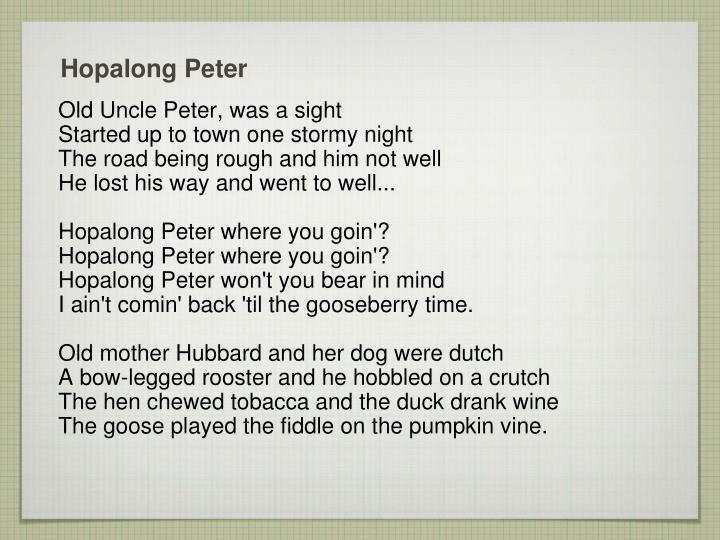 hopalong peter n.