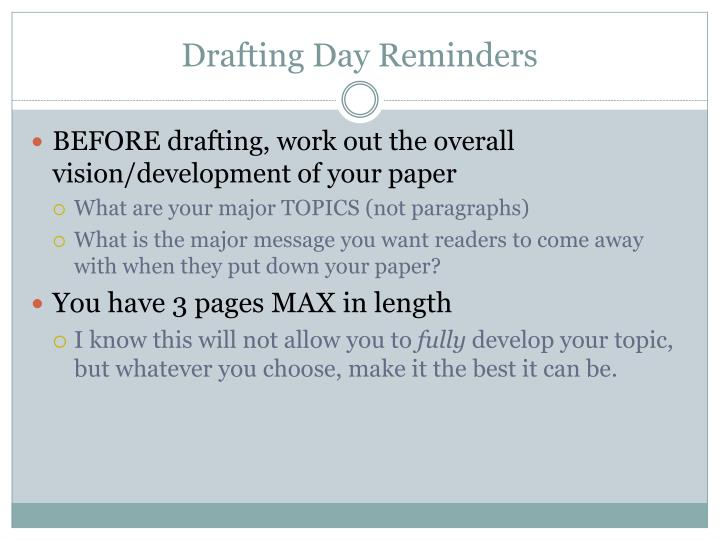 Drafting Day