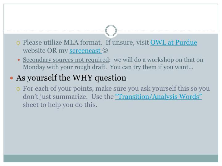 Please utilize MLA format.  If unsure, visit
