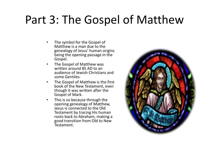 Part 3 the gospel of matthew