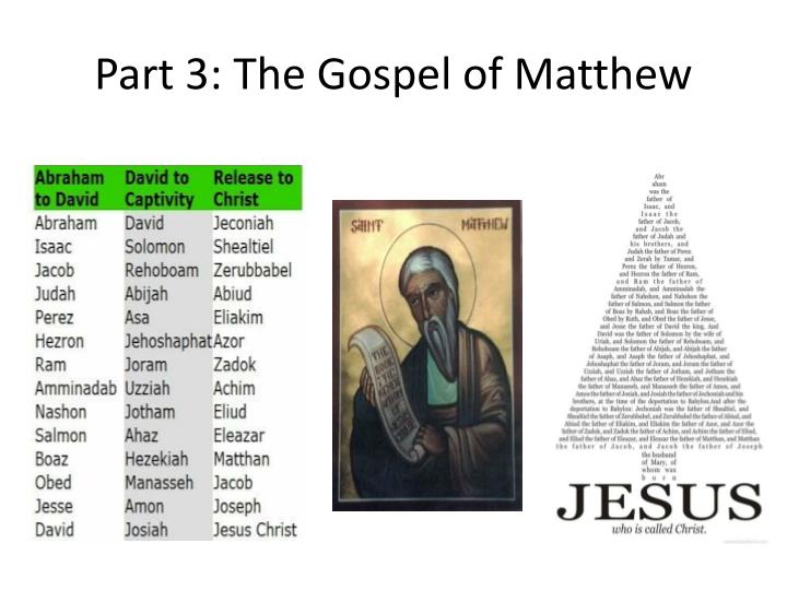 Part 3 the gospel of matthew1